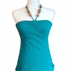 Ladies' Beaded Stretchy String Tank Top, S